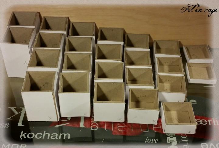 boite en cartonnage crafté