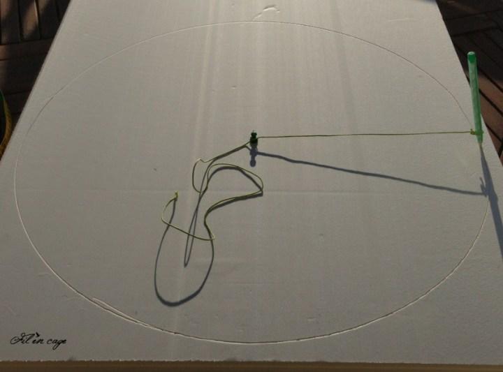 Dessiner un rond sur la plaque