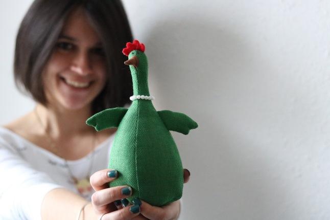 Victoire la mascotte de Sarah Bobinch